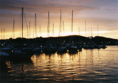 Segeln - Sonnenuntergang bei Jezera