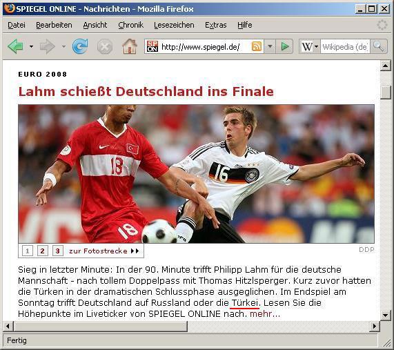 EM-Halbfinale Deutschland-Türkei
