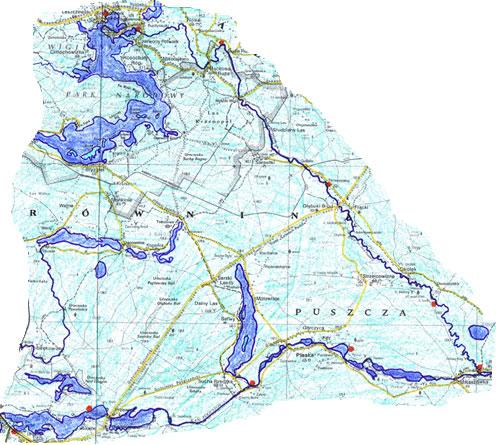 Czarna Hancza - Karte