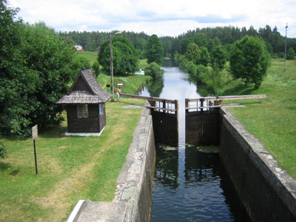 Czarna Hancza - Kanalschleuse