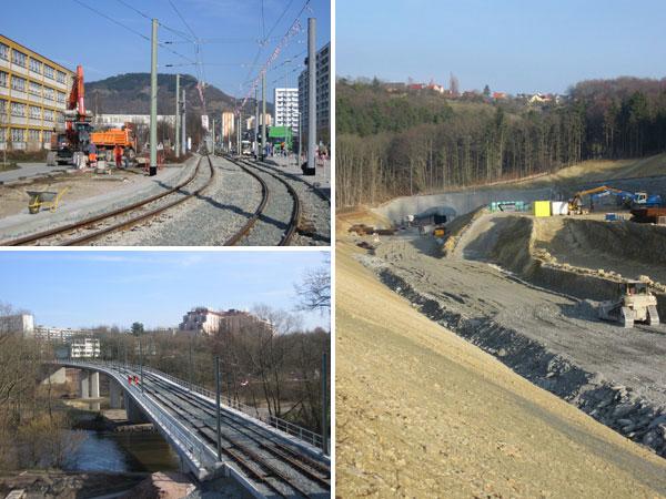 Jena Straßenbahn / Autobahn