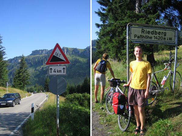 Radtour Alpen