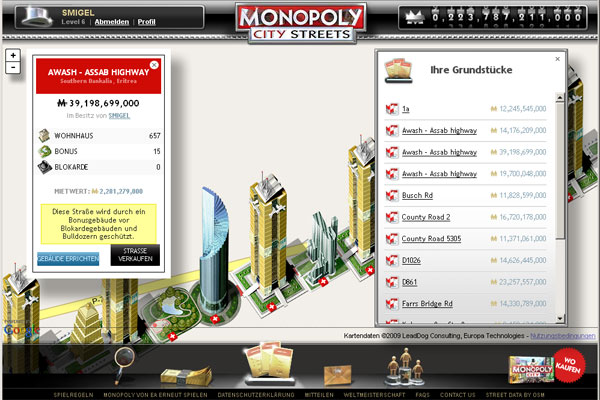 Monopoly City Streets - Spielende