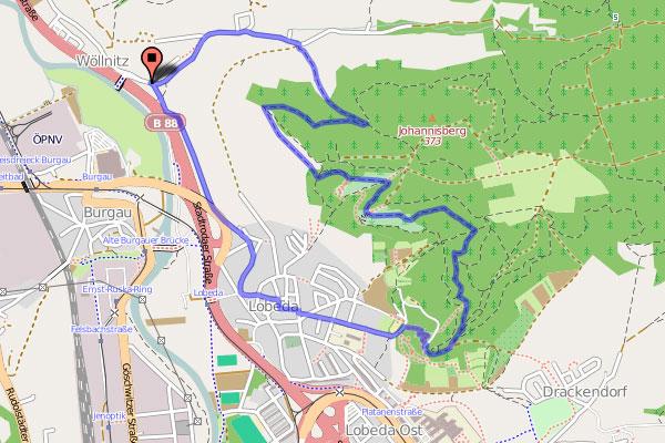 Wanderung Johannisberghorizontale - Karte