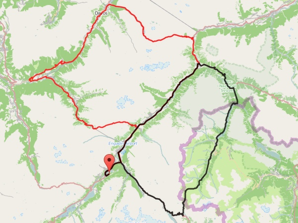 Radtour Engadin 2011 - Karte
