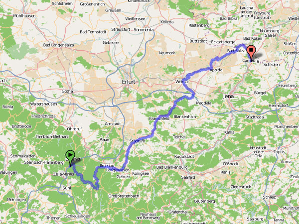 Ilm-Radtour Karte