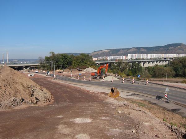 Ausbau der B88 bei Maua