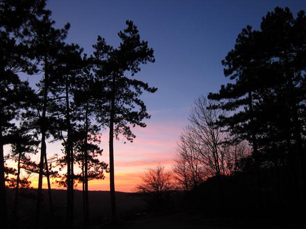 Landgrafen mit Sonnenuntergang