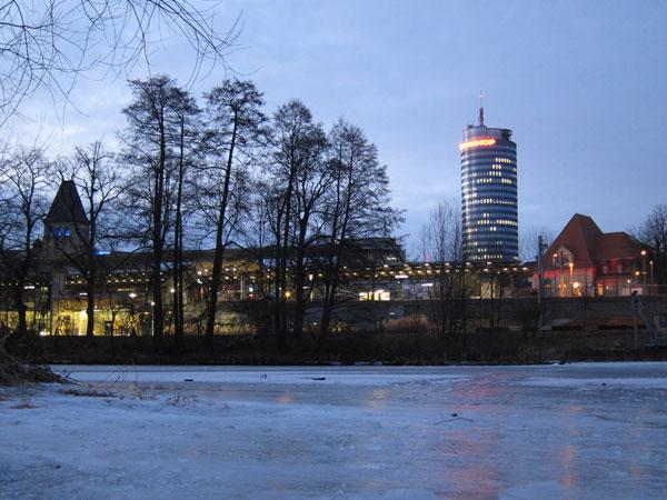 Eis auf der Saale
