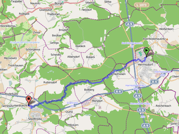Radtour Zeitzgrund Karte