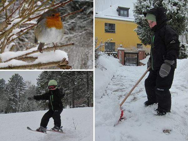 Schnee-Wochenende