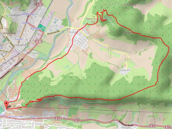 Wanderung Hufeisen - Karte