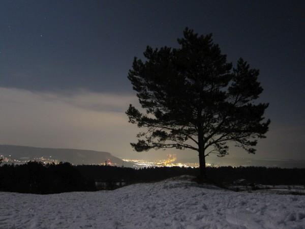 Windknollen bei Nacht