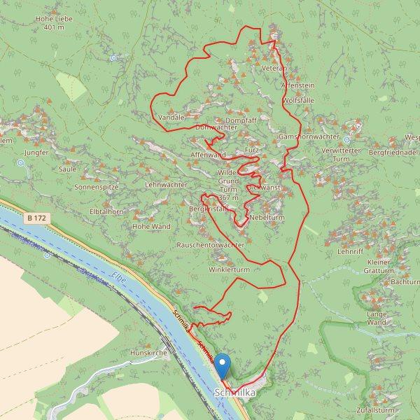 Sächsische Schweiz - Karte