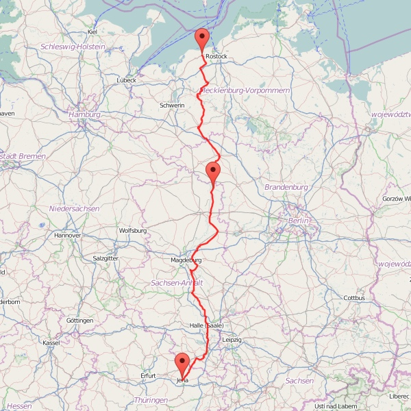 Jena-Ostsee - Karte