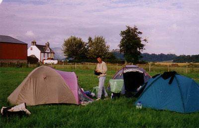 Schottland - Campingwiese